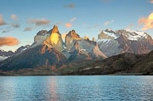 The Cuernos del Paine glow like beacons in the morning sun. This area was featured in the August 2013 issue of Rider magazine. Click image to see more!