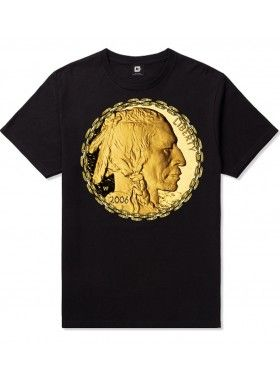 Golden Face T-Shirt. Buy @ http://thehubmarketplace.com/golden-luxury-coin-money-gold-black-chains