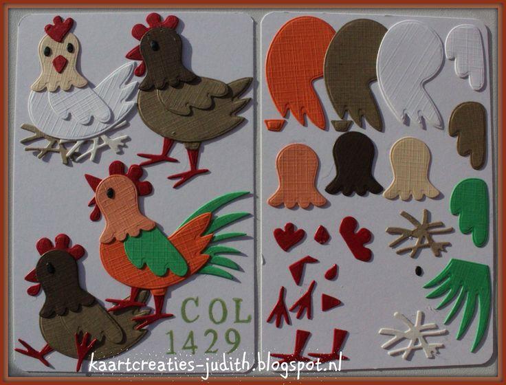 Chicken Family (1) Col1429 - Marianne Design