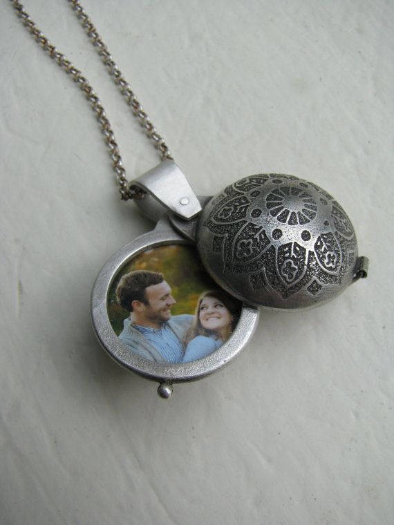 Swing Hinge Double Photo Locket by elmharris on Etsy, $210.00