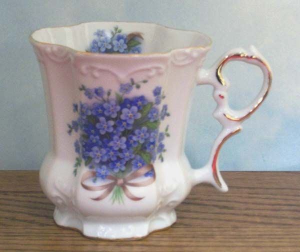 Forget-Me-Not Victorian Mug