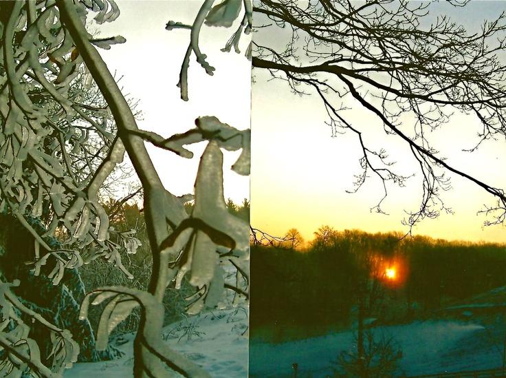 Sunrise over winter hills, 2012