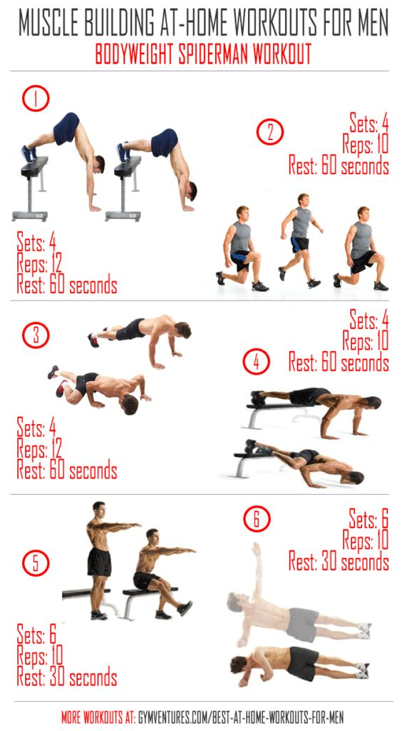 At Home Workouts for Men Bodyweight-Spiderman-Workout