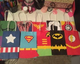 Bolsas de favor de fiesta de superh roe vengador 1 docena - Bolsas para flash ...