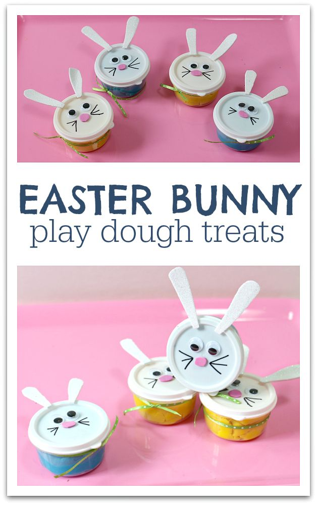 Easter bunny play dough treats from No Time for Flashcards