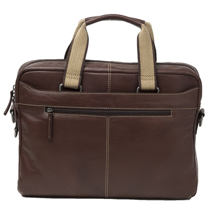 Cobb & Co Rugged Leather RFID Blocking Briefcase: Brown - $345.00 #leatherbag #briefcase #rfidblockingbriefcase