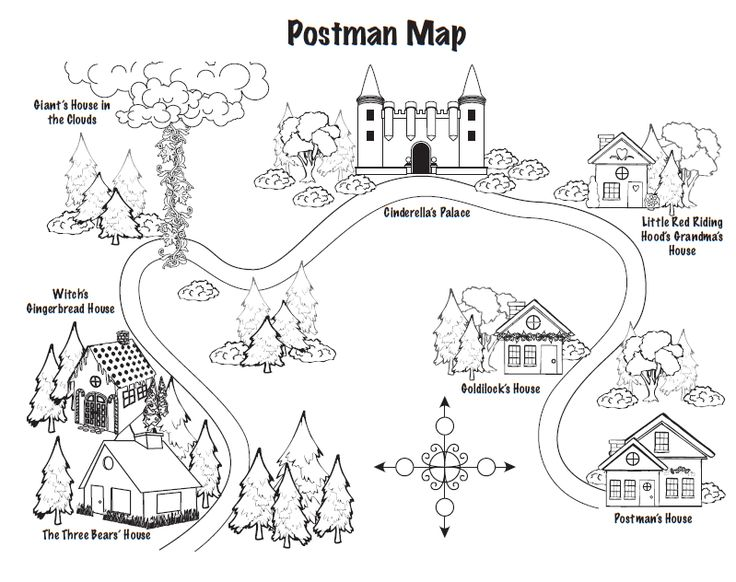 Red Riding Hood and Jolly Postman to teach Maps (With