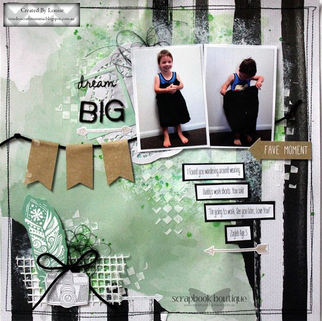 Louise Turner - TimelessCraftMumma for Scrapbook Boutique using the Kaisercraft Boho Dreams collection