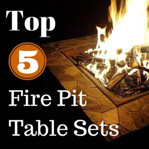 1000 Ideas About Fire Pit Table Set On Pinterest Deck