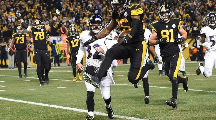 """Ravens vs. Steelers. Steelers won AFC North 31-27. Christmas,  2016 """"Juice"""" stats: 122 rushing yrds and 2 TDs"""