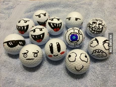 This is how I mark my golf balls so everyone knows they're mine the funniest new meme website