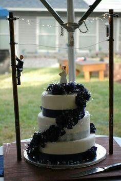 Lineman wedding cake, I didn't think of this!