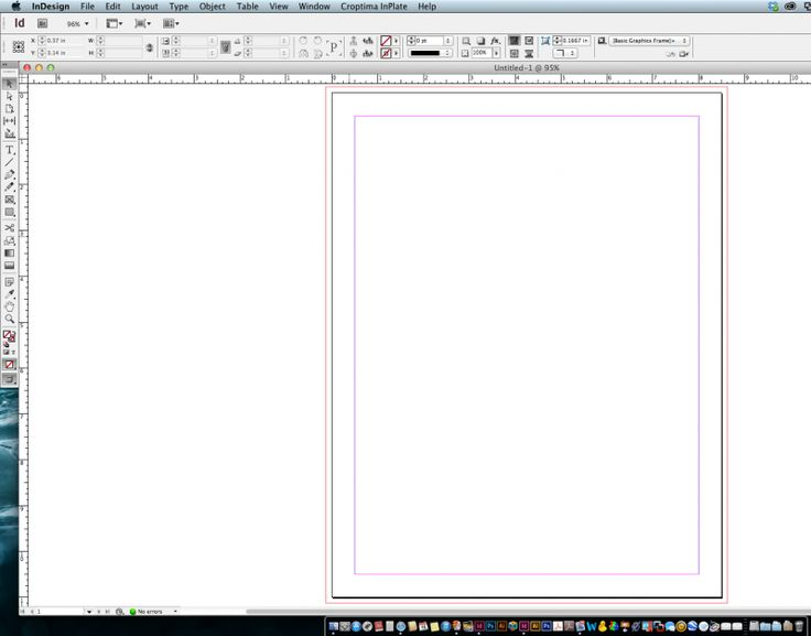 how to make the background a color in indesign