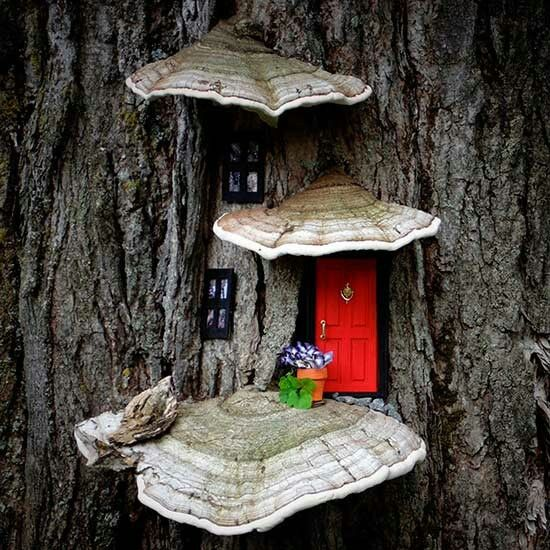 1000 images about polymere clay fairy houses on pinterest for Hallmark fairy door