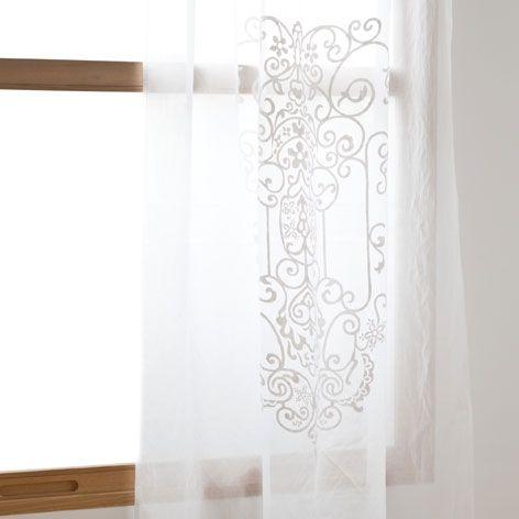 zara home white curtains
