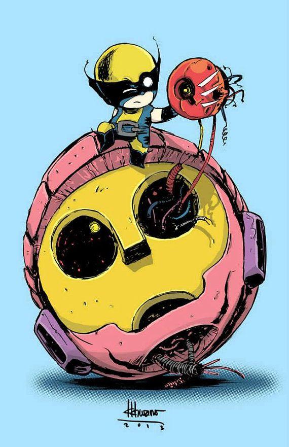 Baby Wolverine Art Print by Ferry Ickhwano