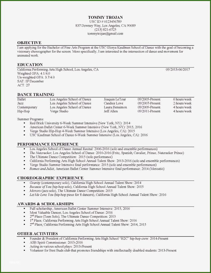 Skillful Usc Marshall Resume Template To Try Out Resume Template Resume Outline Cover Letter For Resume