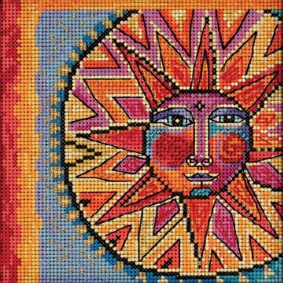 Sun and Moon Dance Cross Stitch Kit Mill Hill 2018 Laurel Burch Celestial