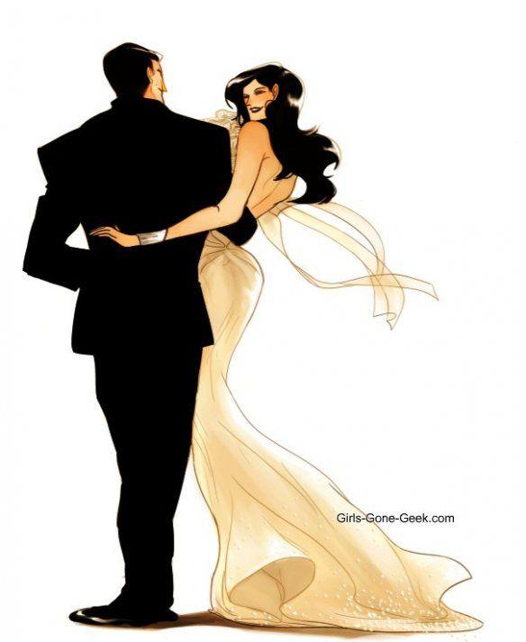 The comic book wedding I'd like to see: Bruce (Batman) and Diana (Wonder Woman).