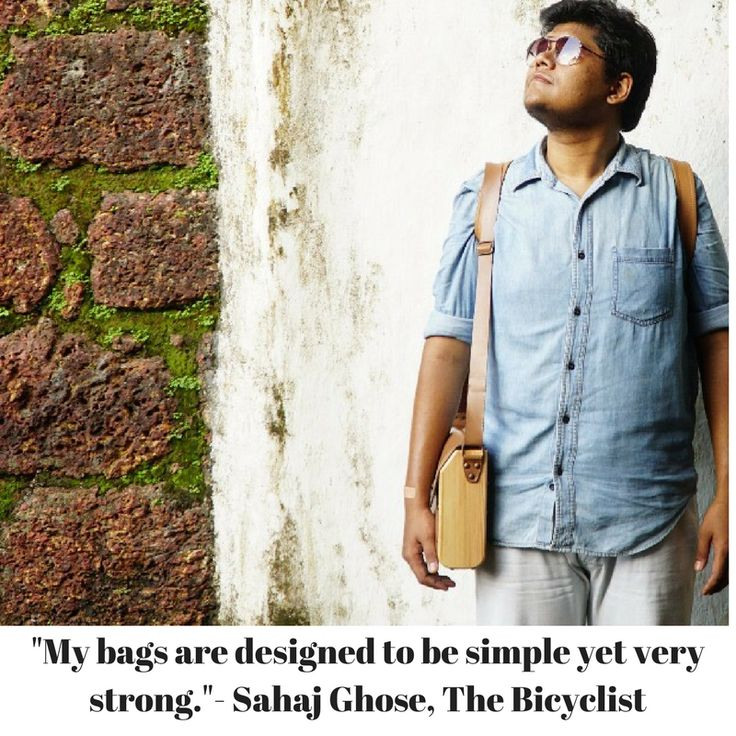 """Oh, how I am in love with leather,"" sighs Sahaj Ghose, owner of bag label, The Bicyclist. ""Leather has a tendency to become more polished when it comes in contact with the user,"" says Ghose as though he is unravelling a well-kept secret. A revelation of sorts, the designer does not see a single flaw in the material. Moving on, the 27-year-old is a graduate from Symbiosis Institute of Design, and creates eco-friendly carry-ons using vegetable tanning. As part of the Big Bag Issue at Red…"