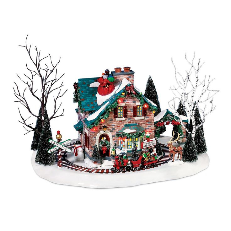 The Jolly Christmas Shop - Department 56 Snow Village Santa's Wonderland Animated House Building 56.55359, $175.00 (http://www.thejollychristmasshop.com/department-56-snow-village-santas-wonderland-animated-house-building-56-55359/)