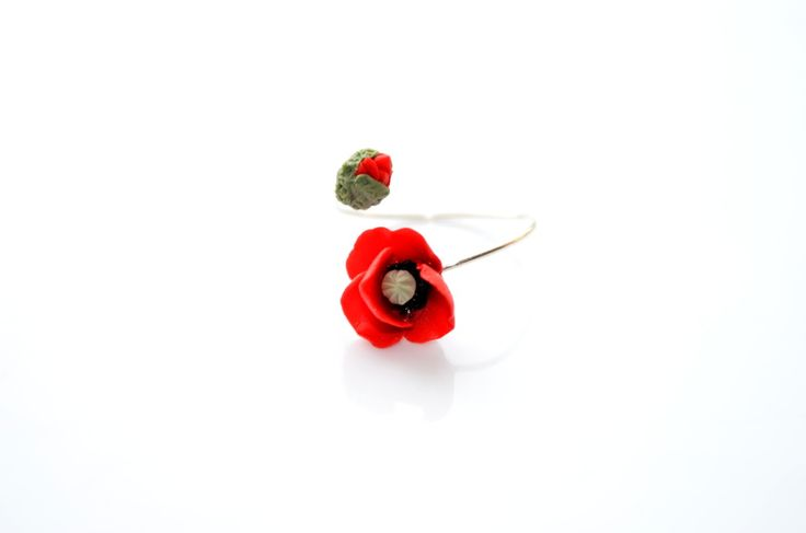Contemporary design poppy ring By Innette  innette.etsy.com