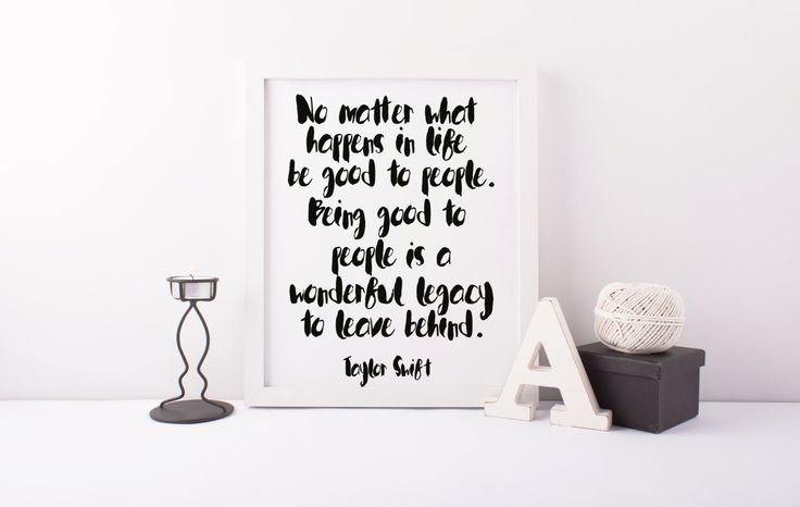 PRINTABLE Art TAYLOR Swift, Be Nice To People,Insrational & Motivational Quote,Best Words,Taylor Swift Quote,Home Decor,Apartment Decorpi von sweetandhoneyprints auf Etsy