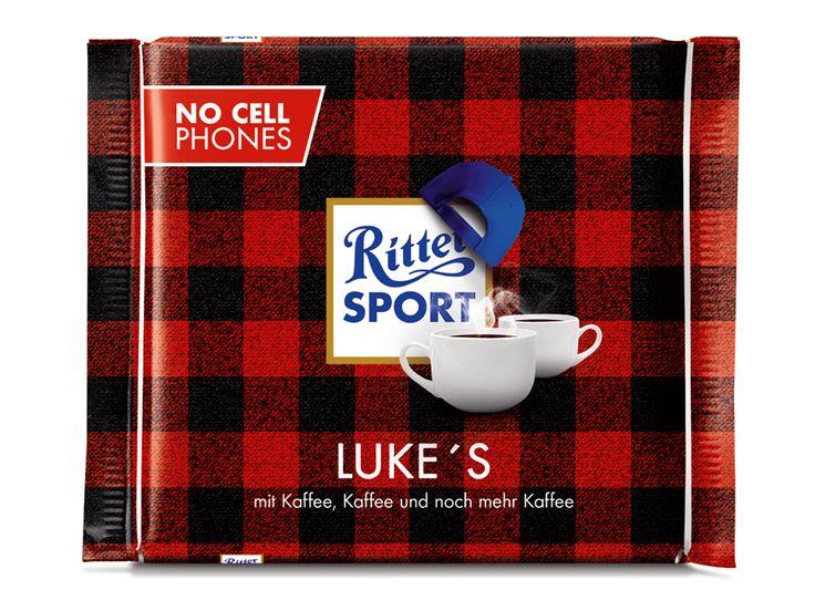 RITTER SPORT Fake-Sorte Luke's mit ganz viel Kaffee! Ob das Rory und Lorelai schmecken würde?