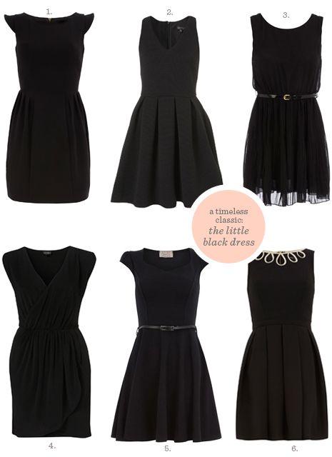 classic wardrobe pieces: the little black dress