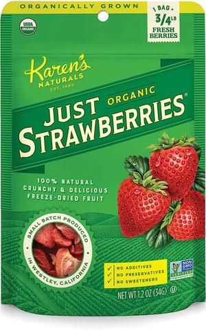 Organic Just Strawberries – Karen's Naturals