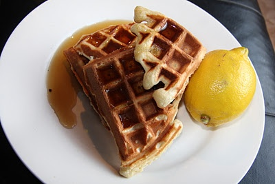 Lemon and Sour Cream Waffles | Breakfast Foods | Pinterest