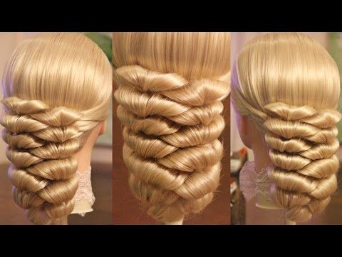 Hairstyle for medium hair - Hair tutorial - Hairstyles by REM - YouTube