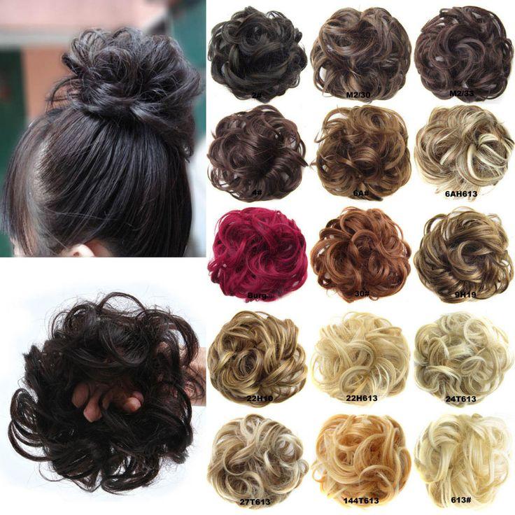 20pcs/LOT DELICE Wholesale Synthetic  Wave Curly Flexible Scrunchie Wrap Uesd For Hair Bun Chignon Or Ponytails GS- Q5