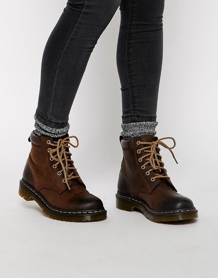 Image 1 of Dr Martens Core 939 Brown Hiking Boots - websites for womens shoes, womens black shoes on sale, womens steel toe shoes