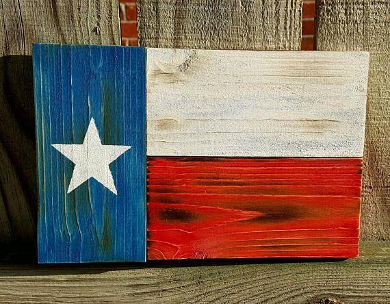 Texas Flag Wood Flag Mini Texas Wood Flag Wooden Flag Wood