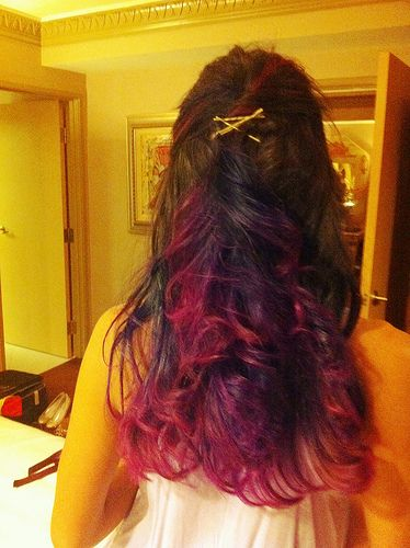 pink/purple ombre: Awesome Hairs, Purple Ombre, Hairs Makeup Nails, Hairs Styles, Ombre Hairs, Pinkpurpl Ombre, Hairs Color, Hairs Nails Beauty, Pink Ombre