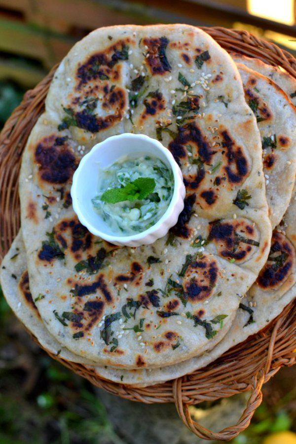 Buttery Garlic and Herb Naan: Try making this beloved restaurant favorite at home! The perfect accompaniments to any fabulous curry. Includes a list of curry recipes