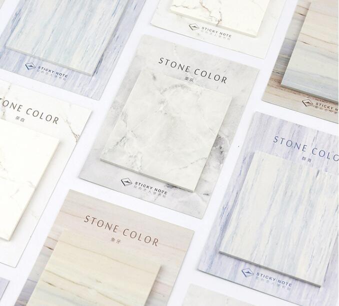 [[Die Sound] 30 Sheets/Lot Stonecolor Niedlich Haftnotizen Post Es Notizblock Schulbedarf Planer Aufkleber Papier Lesezeichen