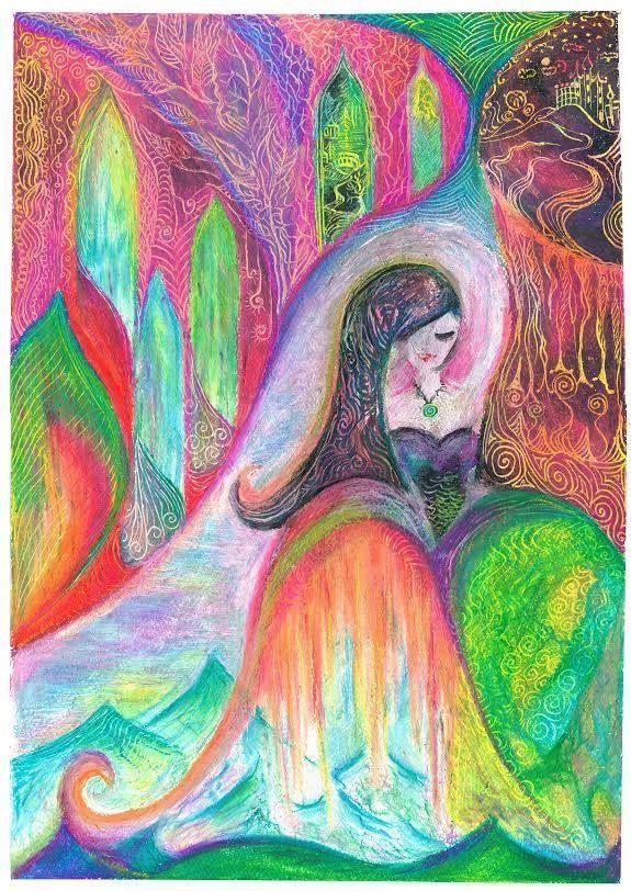 Oil pastel fairy tales