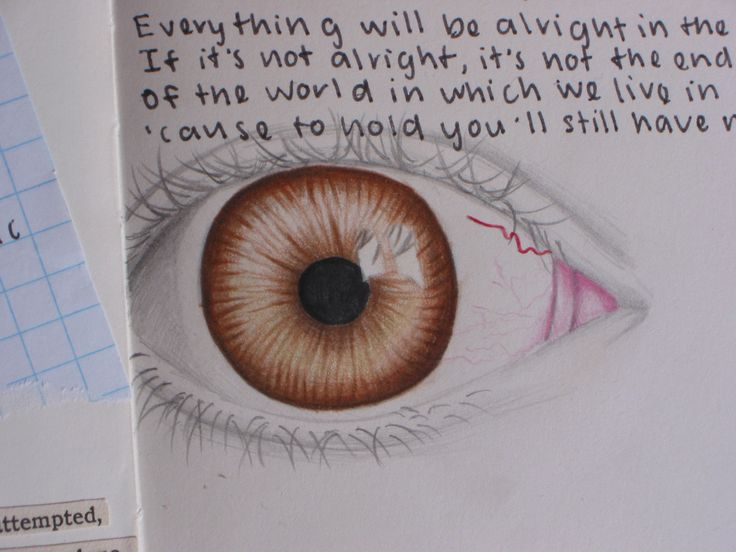 Eye drawing as part of one of my art journal pages