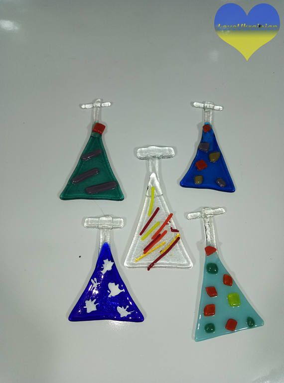 Fused Glass Tree Fused Glass Christmas Ornament Holiday
