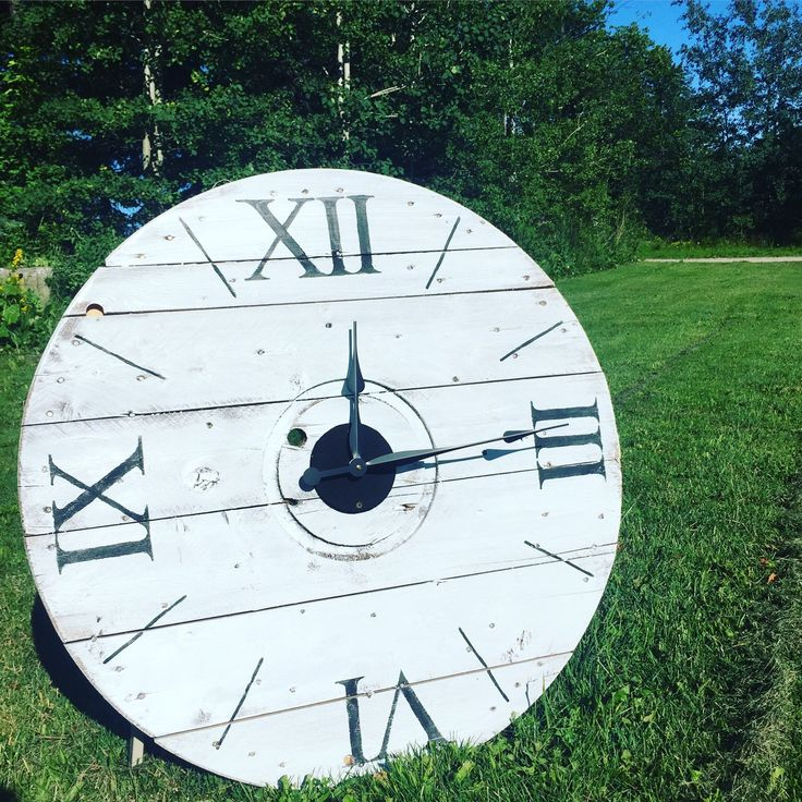 """Classic White "" is one of the many beautiful rustic clocks we offer at our online boutique.  www.anchored4.com We ship world wide!!!  Sign up for our free Anchor Rewards Program to earn anchor points to get money off purchases or cash in anchor points to get items in our store FREE!!!"