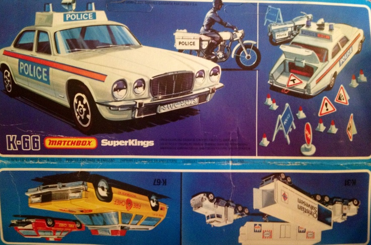 1978 Matchbox SuperKings K-66 Jaguar XJ/12 Police Patrol