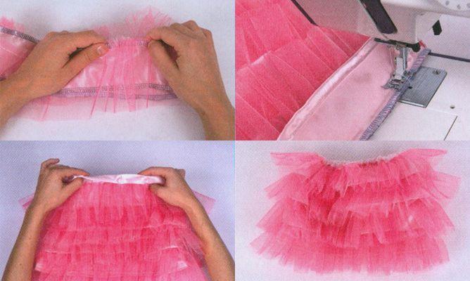¿Necesitáis una falda de tul para carnavales? En el siguiente tutorial os mostramos paso a paso a coser una falda de volantes de tul.