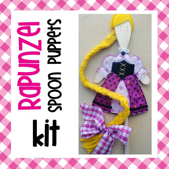 KIT for RAPUNZEL Wooden Spoon PUPPETS