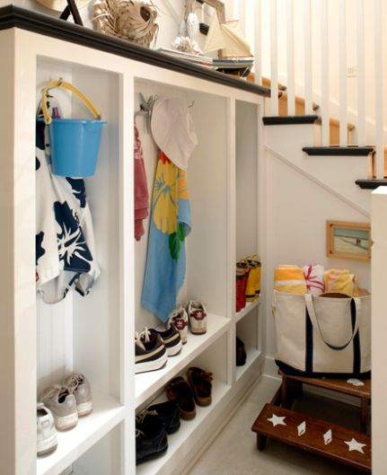 comfortable mudroom ideas in a modern home living creative minimalist white mudroom ideas beside the stairs