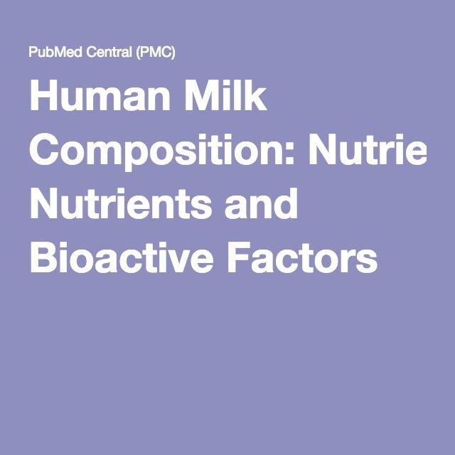 Human Milk Composition: Nutrients and Bioactive Factors adiponectin