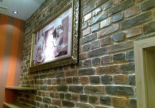 Kunststeinwand in Ziegeloptik - Kunststeinpaneele Ladrillo loft classic