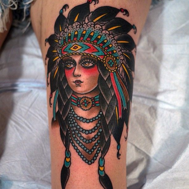 Traditional tattoo. Love the gypsies