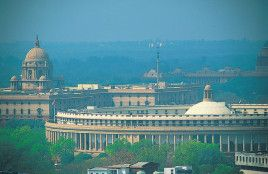 Above is a picture of the government building in New Delhi. India has a parliamentary system of government. The president of India is the head of state, and the prime minister is head of the government. Parliament is the main law making body of India. It has the president and two houses.